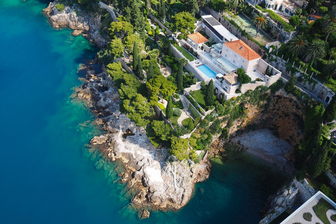 Luxury villa with private beach and pool Dubrovnik