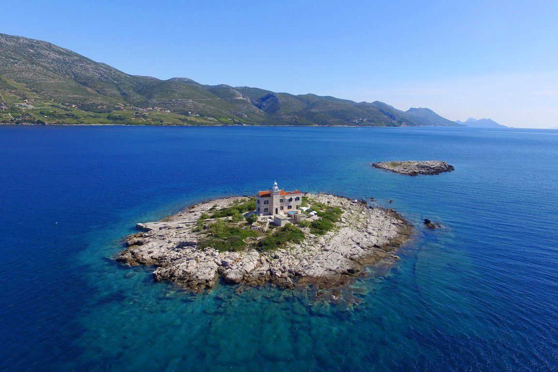 Luxurious lighthouse with pool Island of Korcula
