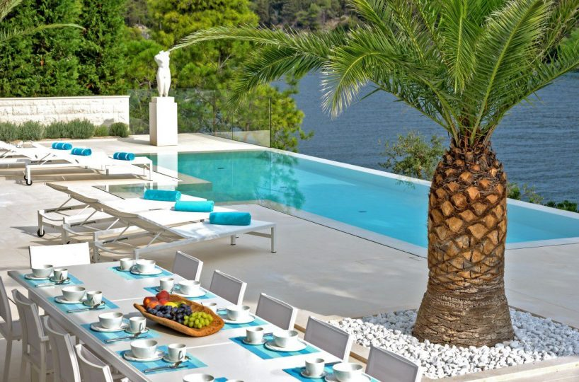 Sea view luxury villa with pool Brac island