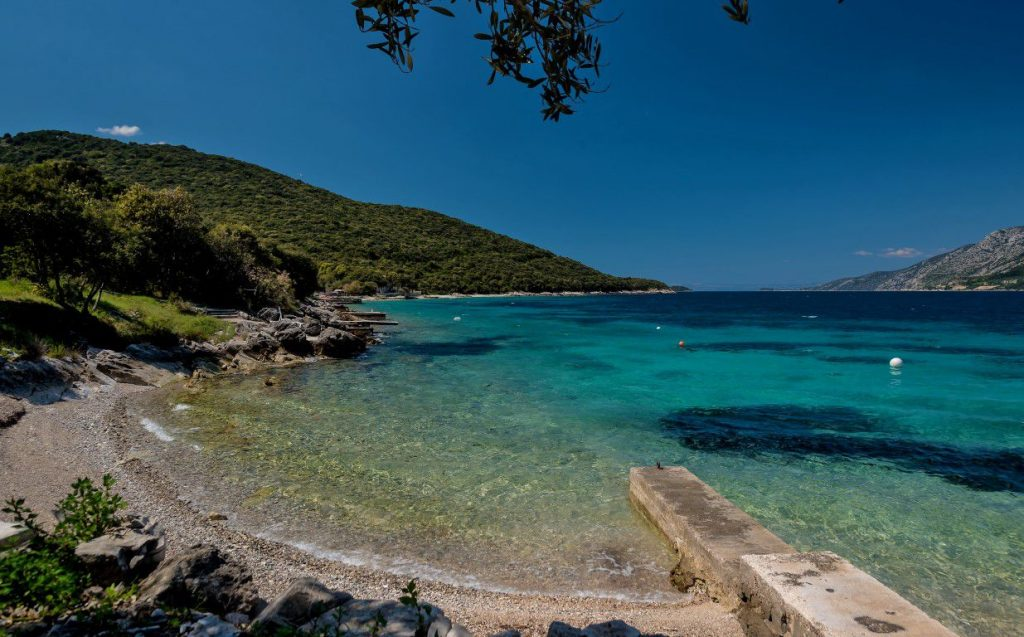 Beautiful day at the beach in Korcula