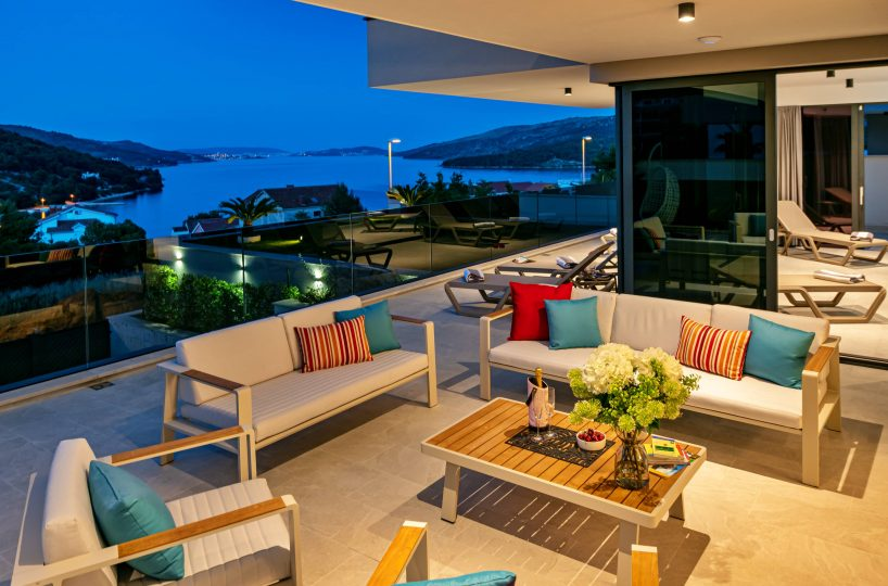Luxury villa with indoor pool and gym, Trogir